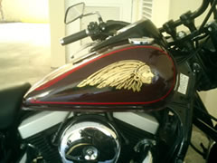 indian head decal over the tank