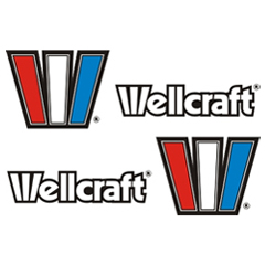 Wellcraft boat decals set